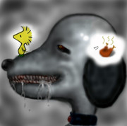犬ーピーとモヒカン鳥