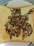 ネイキッド・スネークを食パンに描いてみたその2