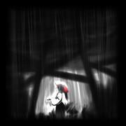 雨にうたれるコンガラ