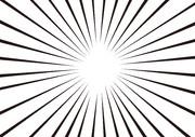 【背景素材28】集中線1