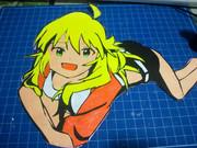 カラー切り絵 折り紙 美希