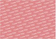 【背景素材81】文字2(I Love You)