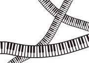 【背景素材83】鍵盤4