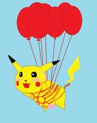 空飛ぶピカチュウ