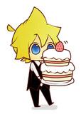 ケーキをどおぞ・ω・