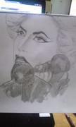 Lady GAGA 鉛筆で描いてみた('゜д゜)