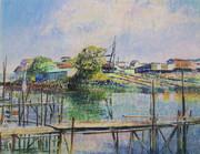 川岸の造船所