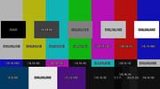 色空間テスト用カラーバー(色値つき)フルHDサイズ(1920x1080)