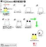 Suwaco帽の絵描き方