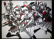 【切り絵】26 リトバス女の子【リトルバスタース!】