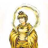 虎柄の毘沙門天