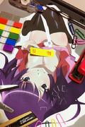 化物語-戦場ヶ原ひたぎ-冬コミ用に描いたサークルカット派生