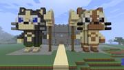 【アイルー】Minecraftで作ってみた【メラルー】