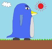 ある晴れた日のペンギン画伯