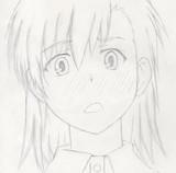 御坂美琴 とある魔術の禁書目録18話の赤面シーンのラフ画