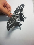 蝶を切り絵にしてみた2