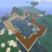 Minecraft  SFCおばけぬまを 2 を作ってみた  マリオカート