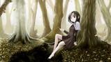 秋の森と女の子