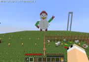 マインクラフトで雪だるまのドット(絵?)