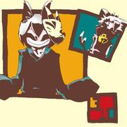 魂々、銀狐。2