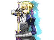 【描いてみた】Fate/Zeroのセイバー描いてみた【マウス絵】