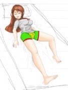 寝ている間に女の子になったの図