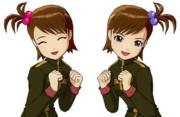 【ド素人GMとアイドルのry】雪歩伊織亜美真美 ジオン軍服1.4