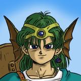 ドラクエ4の主人公(男)を描きました。