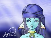 ドラクエ10の種族ウェディ(女)を描きました。