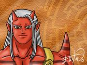 ドラクエ10の種族オーガ(男)を描きました。
