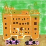 コリドラスパンダと建物