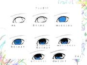 眼の塗り方