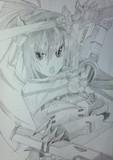 篠ノ之箒 : インフィニット・ストラトス をシャーペンで模写してみた
