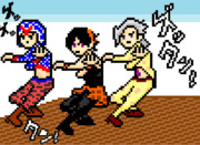 【ver.GIF】ドットでギャングダンス