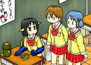 マジンガーNANO第1話より「昼休みのNANOとゆっことみお」
