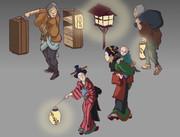 夜鳴蕎麦絵図