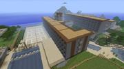 【Minecraft】マイクラで西宮北高(ハルヒの高校)を作る