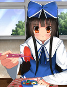スターサファイアがお弁当を食べさせてくれます。