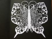 切り絵 櫻蝶