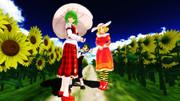 【MMD】幽リグエリー・ひまわり畑で記念撮影