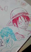 【落書き】ルフィとトリコ