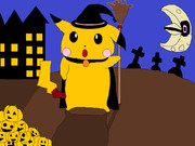 ハロウィンピカチュウ (マウス画)