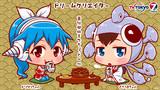 【OPカード】くぎうまちゃんとドリクリちゃんは茶飲み仲間