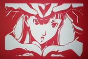 【切り絵】35 雪子姫【ペルソナ4】