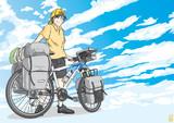 自転車と雲