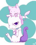 【ポケモン】ミュウとミュウツー