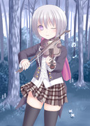 『早朝のバイオリン弾き♪』