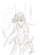 骨折したけど描いてみた 球磨川先輩