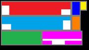 【自作】ニコファーレ LEDフォーマット【配置トレース用】【1920x1080】