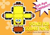 Paper craft of SpongeBob SquarePants